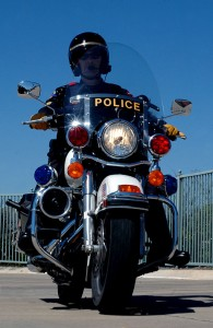 DUI cop on motorcycle